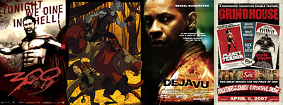 300, Hellboy Animated: Blood and Iron, Deja Vu, Grindhouse