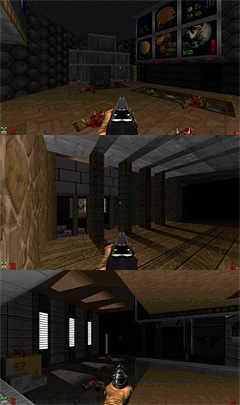 Doom Levels: Meek by Chris Hansen, Monolith 5 by Richard Wiles, TNT MAP01 Remake by Sgt Crispy