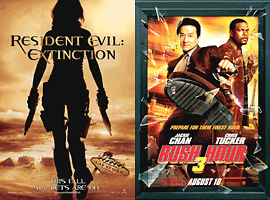 Resident Evil: Extinction and Rush Hour 3