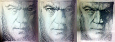 The Bourne Ultimatum — Drawing by Karthik Abhiram, Behind the Scenes Pic