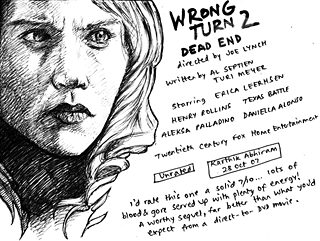 Wrong Turn 2: Dead End — Drawing by Karthik Abhiram