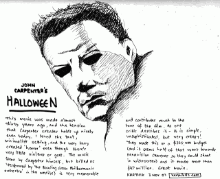 John Carpenter's Halloween — Drawing by Karthik Abhiram