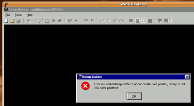 Doom Builder Error when running under WINE