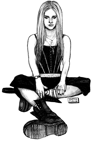 Avril Lavigne Drawing 1 — by Karthik Abhiram