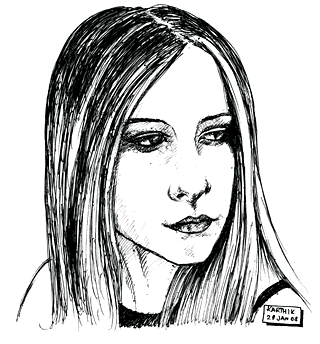Avril Lavigne Drawing 2 — by Karthik Abhiram