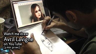 Drawing Avril Lavigne on YouTube, by Karthik Abhiram