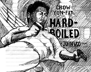 "Chow Yun-Fat in ""Hard-Boiled"" — Drawing by Karthik"
