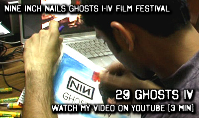Watch me draw Nine Inch Nails: Ghosts I-IV on YouTube [Festival Video]