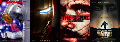 Movies seen recently — Speed Racer, Iron Man, The Signal, No Country for Old Men and more...