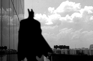 Batman in Madhapur — A Photo by Karthik Abhiram