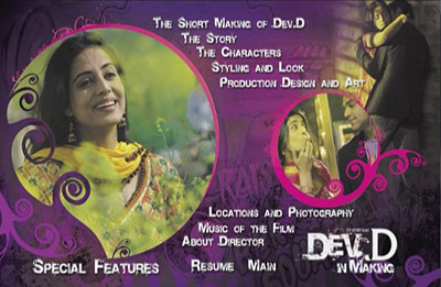 Dev.D DVD Disc 2 Menu Screenshot