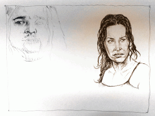 Lost In-Progress — Kate and Hurley — Drawing by Karthik Abhiram