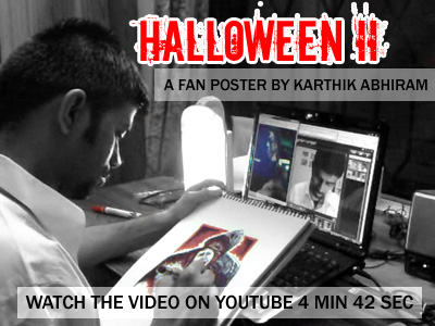 Watch the Halloween II Fan Poster Drawing Video on YouTube