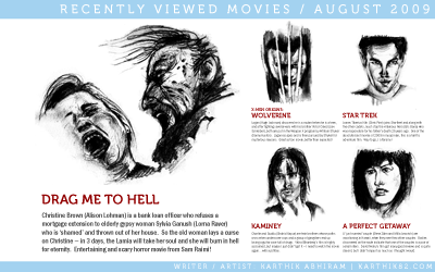 Recent Movies Watched, August 2009 — by Karthik Abhiram