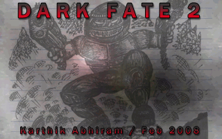 Dark Fate 2, a level for Doom II by Karthik Abhiram